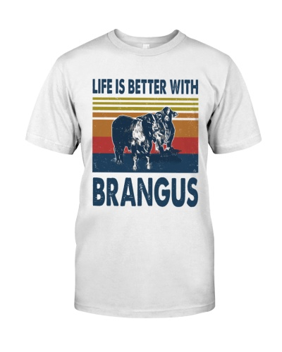 Vintage Life Is Better With - Brangus
