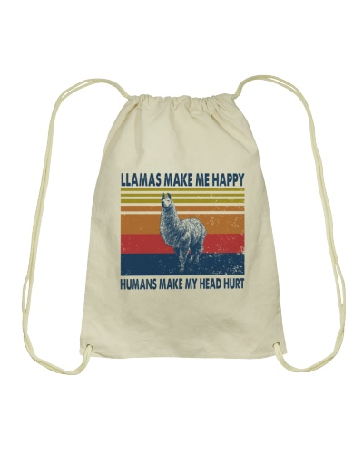 Vintage Make Me Happy - Llama
