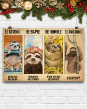Poster Vintage Be Strong - Sloth 17x11 Poster aos-poster-landscape-17x11-lifestyle-28