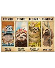Poster Vintage Be Strong - Sloth 17x11 Poster front