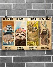 Poster Vintage Be Strong - Sloth 17x11 Poster poster-landscape-17x11-lifestyle-18