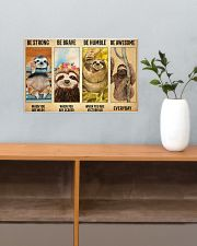 Poster Vintage Be Strong - Sloth 17x11 Poster poster-landscape-17x11-lifestyle-24