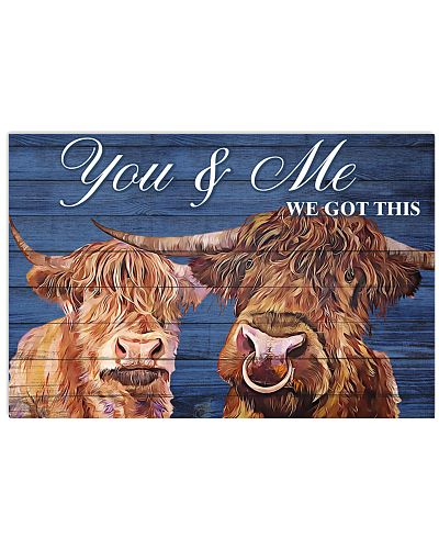 Poster You and Me - Highland Cattle