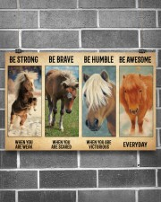 Poster Everyday - Miniature Horse 17x11 Poster aos-poster-landscape-17x11-lifestyle-18