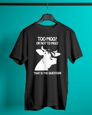 TO MOO OR NOT TO MOO THAT'S QUESTION Classic T-Shirt lifestyle-mens-crewneck-front-3