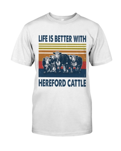 Vintage Life Is Better With - Hereford