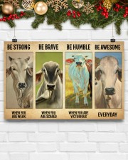 Poster Vintage Be Strong - Brahman 17x11 Poster aos-poster-landscape-17x11-lifestyle-28