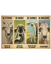 Poster Vintage Be Strong - Brahman 17x11 Poster front