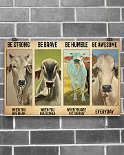 Poster Vintage Be Strong - Brahman 17x11 Poster poster-landscape-17x11-lifestyle-18
