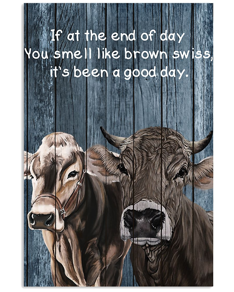 Poster You Smell Like - Brown Swiss 11x17 Poster