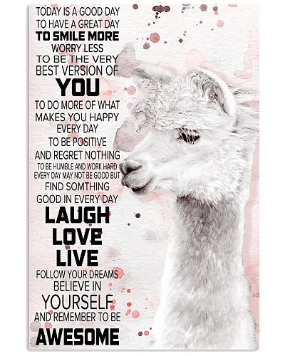 Today Is A Good Day - Alpaca