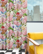 Pigs Lovers Window Curtain - Blackout aos-window-curtains-blackout-50x84-lifestyle-front-03