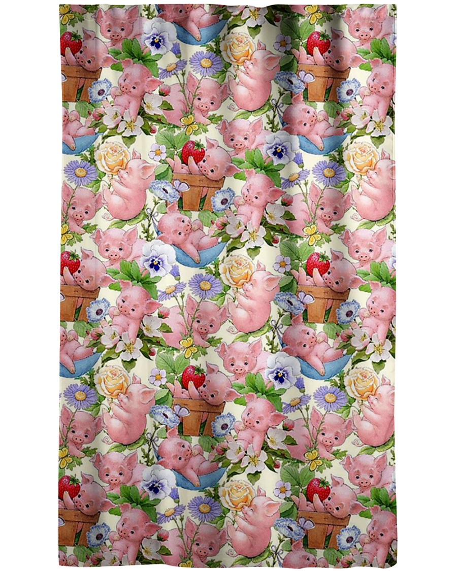 Pigs Lovers Window Curtain - Blackout