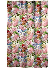 Pigs Lovers Window Curtain - Blackout front
