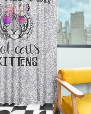Cool Cats and Kittens Window Curtain - Blackout aos-window-curtains-blackout-50x84-lifestyle-front-03