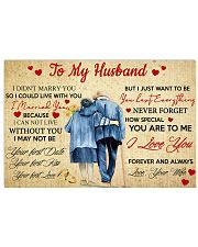 To My Husband 36x24 Poster front