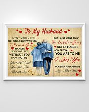 To My Husband 36x24 Poster poster-landscape-36x24-lifestyle-02