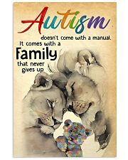 Autism doesn't come with a manual it comes with a  24x36 Poster front