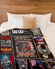 "Never Underestimate Grumpy Veteran Large Fleece Blanket - 60"" x 80"" aos-coral-fleece-blanket-60x80-lifestyle-front-02"