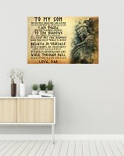 To My Son Never Feel That You Are Alone 36x24 Poster poster-landscape-36x24-lifestyle-01