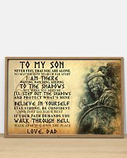 To My Son Never Feel That You Are Alone 36x24 Poster poster-landscape-36x24-lifestyle-03