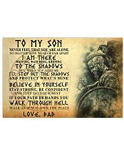 To My Son Never Feel That You Are Alone Horizontal Poster tile