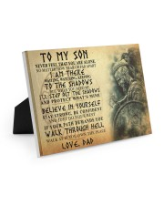To My Son Never Feel That You Are Alone 10x8 Easel-Back Gallery Wrapped Canvas thumbnail