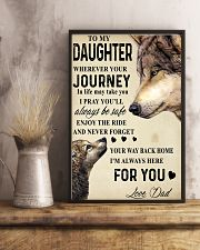 To My Daughter 24x36 Poster lifestyle-poster-3