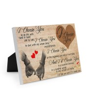 I choose You 10x8 Easel-Back Gallery Wrapped Canvas thumbnail