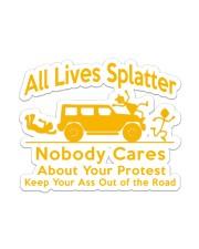 All Lives Splatter Sticker - Single (Vertical) front