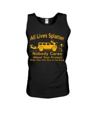 All Lives Splatter Nobody Cares Unisex Tank thumbnail