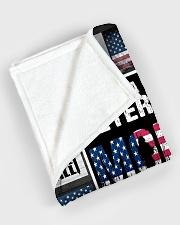 "I'm Veteran Mom Large Fleece Blanket - 60"" x 80"" aos-coral-fleece-blanket-60x80-lifestyle-front-08"