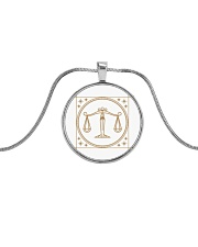 Libra Metallic Circle Necklace thumbnail