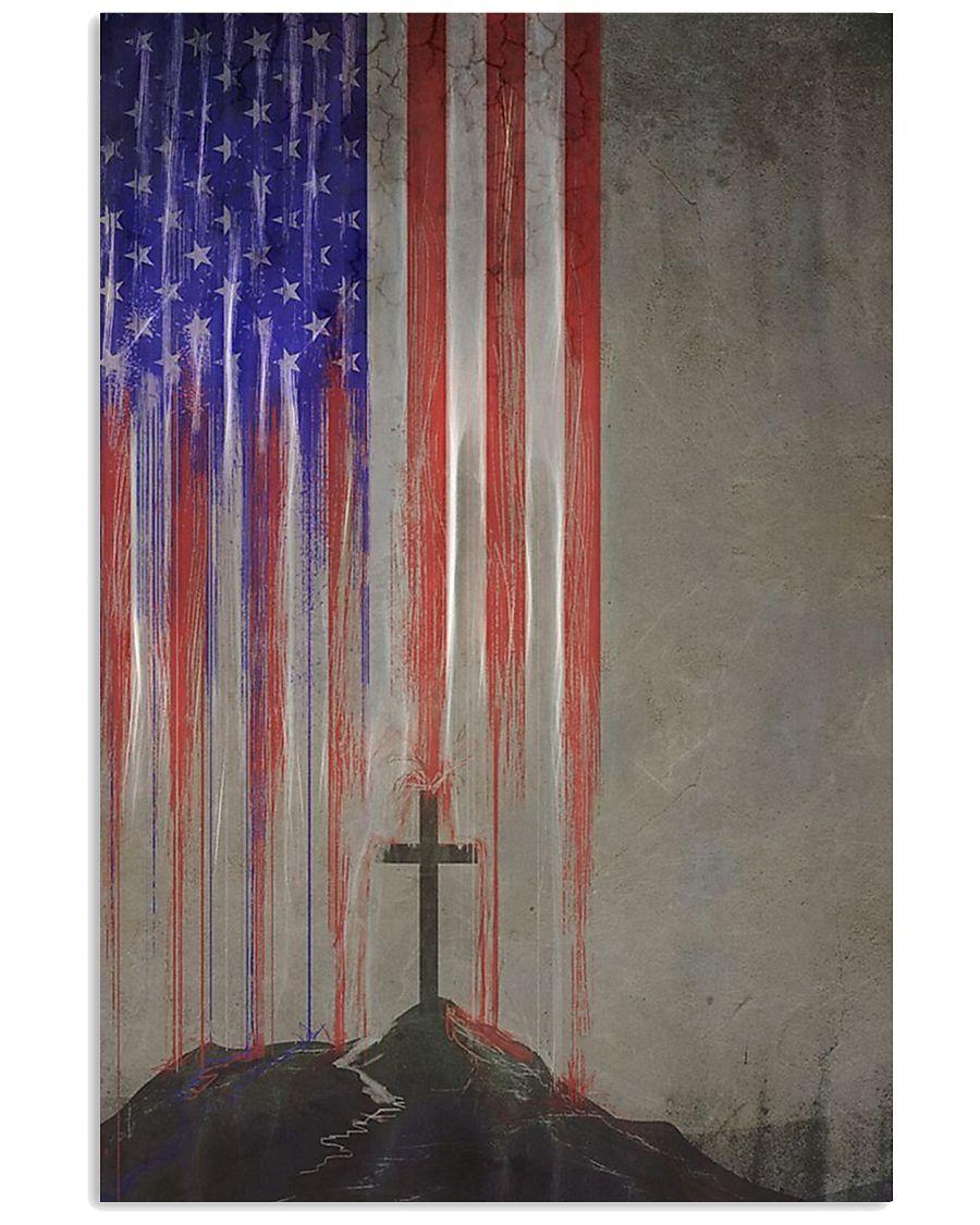 flag cross 24x36 Poster