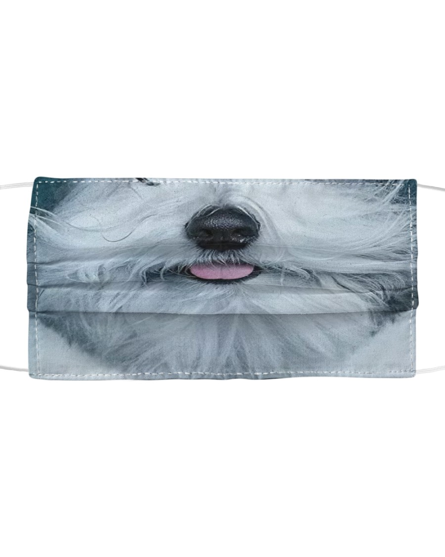 old English sheepdog Cloth face mask