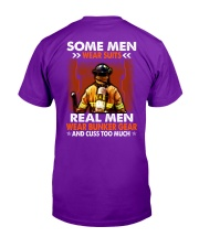 Real men wear Bunker Gear and cuss too much  Classic T-Shirt tile