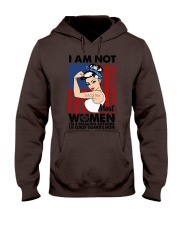 I am not women I am awesome US Coast Quard's mom Hooded Sweatshirt thumbnail