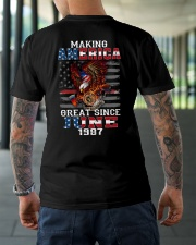 Making America Great since June 1987 Classic T-Shirt lifestyle-mens-crewneck-back-3