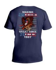 Making America Great since June 1987 V-Neck T-Shirt thumbnail