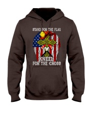 Firefighter Stand for the Flag Kneel for the Cross Hooded Sweatshirt thumbnail