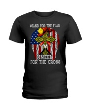Firefighter Stand for the Flag Kneel for the Cross Ladies T-Shirt thumbnail