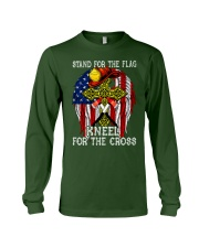 Firefighter Stand for the Flag Kneel for the Cross Long Sleeve Tee thumbnail