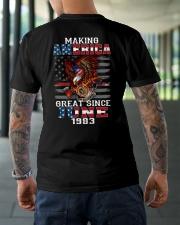 Making America Great since June 1983 Classic T-Shirt lifestyle-mens-crewneck-back-3