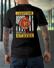 Firefighters Does not play with others Classic T-Shirt lifestyle-mens-crewneck-back-3