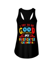 I take care of my firefighter grandpa  Ladies Flowy Tank thumbnail