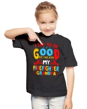 I take care of my firefighter grandpa  Youth T-Shirt lifestyle-youth-tshirt-front-2