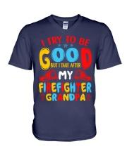 I take care of my firefighter grandpa  V-Neck T-Shirt thumbnail