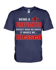 Being a Firefighter doesn't make me bored  V-Neck T-Shirt thumbnail