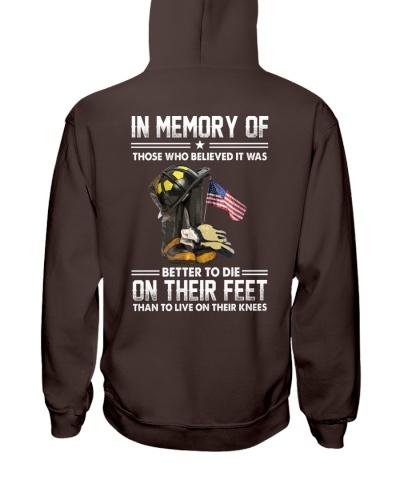 Firefighter shirt In memory of