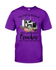 I'm a woman who loves her trucker and cuss much Classic T-Shirt thumbnail